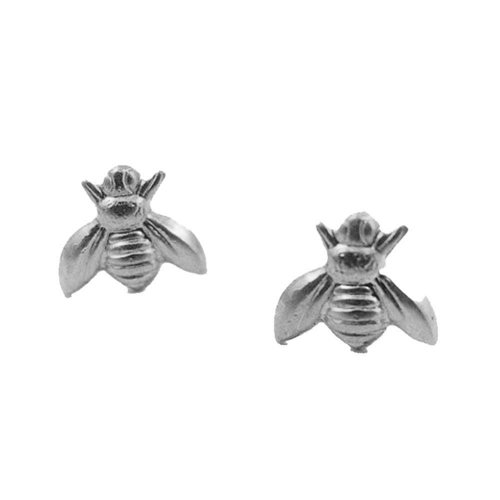 YINLIN Tiny Cute Gold Silver Plated Bee Stud Earrings Animal Insect Honey Bee Earrings Studs for Women Girls