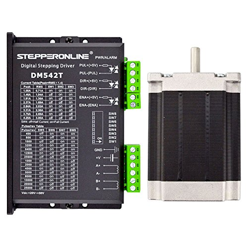 STEPPERONLINE 1 Axis Stepper CNC Kit 1.9Nm(269oz.in) 3.0A Nema 23 Stepper Motor & Driver