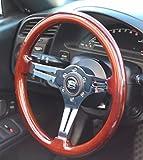 jdm mazda logo - (350mm) Polished Wood Steering Wheel, Miata, Porsche, BMW, JDM, Mazda, Toyota