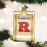 Collegiate Diploma Glass Ornament (Rutgers University)