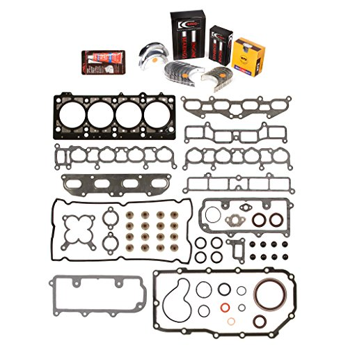 Evergreen Engine Rering Kit FSBRR5020EVE\0\0\0 Fits 96-99 Mitsubishi Eagle Dodge Non-Turbo 2.0 420A Full Gasket Set, Standard Size Main Rod Bearings, Standard Size Piston Rings