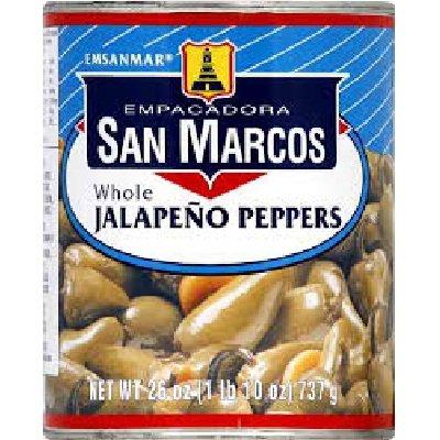 San Marcos Whole Jalapeno Pepper, 26 Ounce - 12 per case.