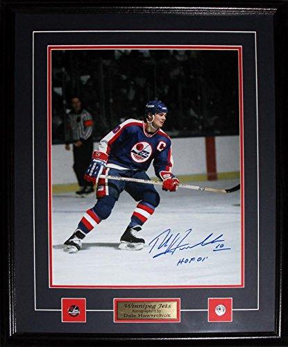 Dale Hawerchuk Winnipeg Jets Signed 16x20 NHL Hockey Memorabilia Collector Frame - Winnipeg Signed Jets