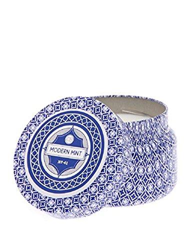 Capri Blue Printed Tin Travel Candle in Modern Mint