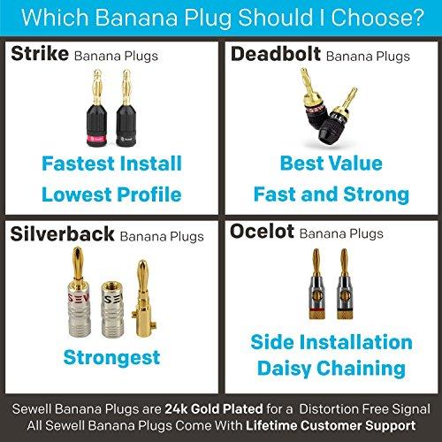 Amazon Ocelot Banana Plugs 24k Gold Plated Connectors Open