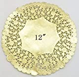 PEPPERLONELY 12 Inch Gold Round Lancaster Paper