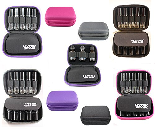 Essential Oil Carrying Case Holds 10 Bottles Perfect for Roller Bottles 5ml - 10ml Multiple Colors! (1 Pack, Black)