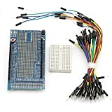 SainSmart153 Prototype Shield ProtoShield V3 + Mini Breadboard with Free Jump Wires for Arduino UNO MEGA Nano DUE Robot