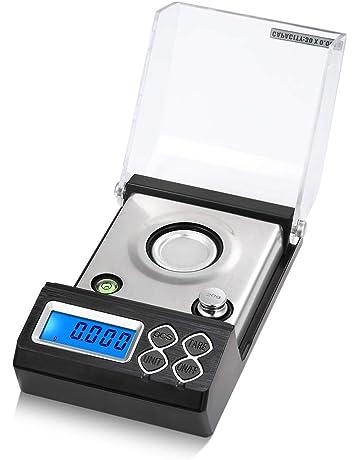 KKmoon Báscula de miligramos digital profesional de alta precisión 30g / 0,001g Báscula de balancín