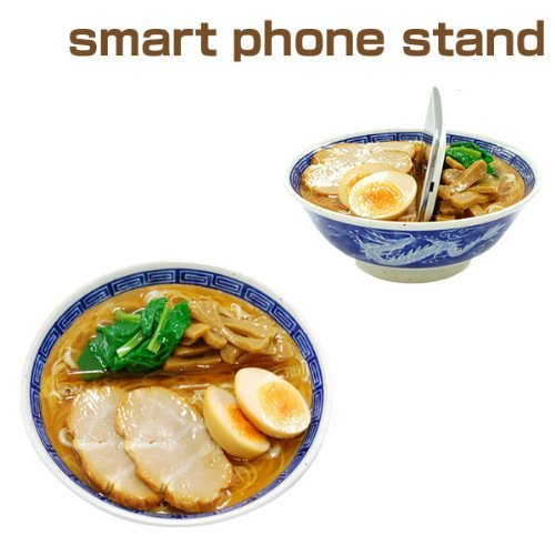 Japanese Food Sample Smartphone Stand (Chinese Noodle) by Japanese food gadget