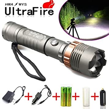 Amazon Tactical Police Cree Xml T6 8000lm Led Zoomable