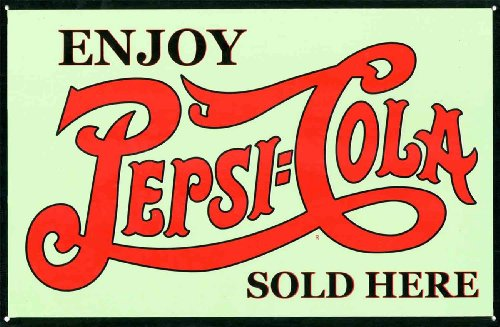 Enjoy A Refreshing Drink Pepsi Cola, Sold Here Tin Signs 43x28cm Pepsi Cola Sign