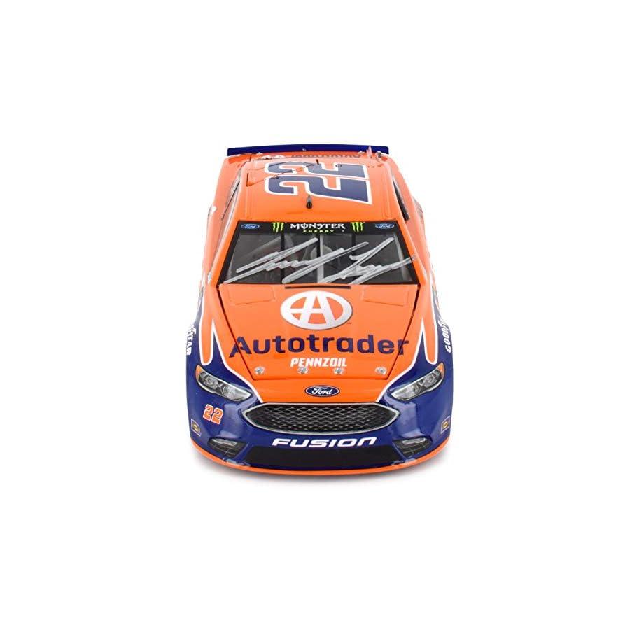 Lionel Racing Autographed Joey Logano 2018 Autotrader NASCAR Diecast Car 1:24 Scale