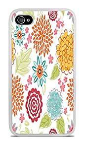 Blooms Bursts Flower White Silicone For Samsung Galaxy S6 Case Cover