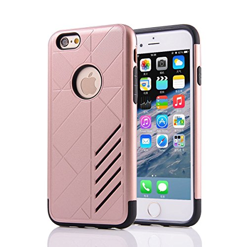 """HYAIT® For IPHONE 6 4.7"""" [CONTRAST]Case Dual Layer Hybrid Armor Rugged Plastic Hard Shell Flexible TPU Bumper Protective Cover-XJAE06"""