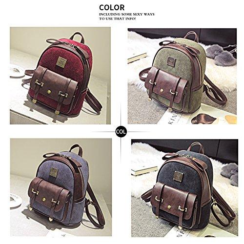 (JVP1017-B) Material de backpacing europeo negro 3way bolso mochila bandolera popular viajero de la escuela de recuperación de la escuela de moda de estilo casual Azul Marino
