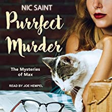 Purrfect Murder: Mysteries of Max, Book 1 Audiobook by Nic Saint Narrated by Joe Hempel