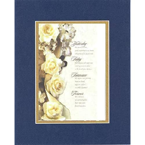 Inspiring (Yesterday, Today, Tomorrow and Forever . . .) 8 x 10 Inches Frame able Note Card on Double Beveled Sales