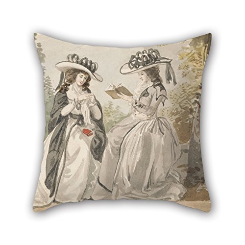 Artistdecor Oil Painting Lady Salesbury - The Misses Van And Lady Salisbury Pillow Covers 20 X 20 Inches / 50 By 50 Cm Gift Or Decor For Car,lounge,bf,home Office,dance Room,relatives - 2