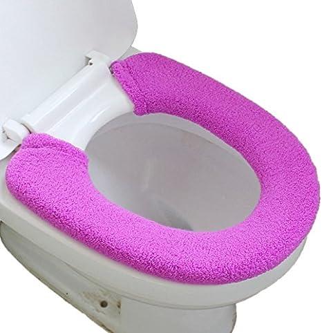 Toilet Seat Cover Pad Closestool Warmer Mat Cover Warm Plush Cushion Cover Pad