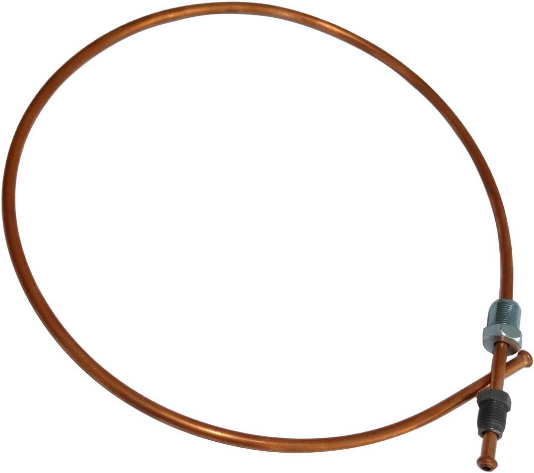 AERZETIX Conduite de freins tuyau tube en cuivre /Ø4.76mm avec raccords M12x1//M10x1 90cm