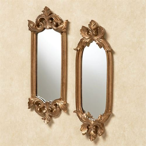 Touch of Class Antique Gold Accent Wall Mirrors Mirror Set Home Decor Shabby Chic Ornate