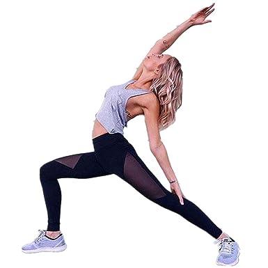 HARRYSTORE Mujer de secado rápido pantalones de yoga ...