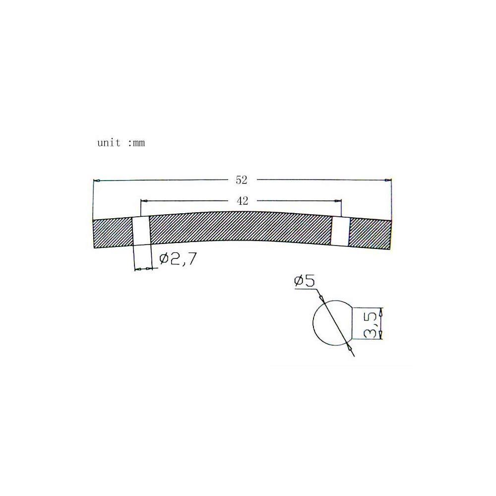 Barra de tensi/ón del retenedor de cuerda del cabezal para reemplazo de guitarra el/éctrica 52 mm negro