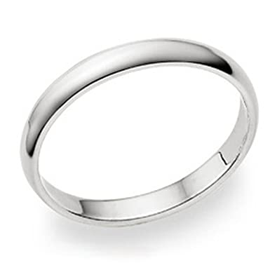 Sterling Silver Wedding 3mm Band Plain Comfort Fit Ring Solid 925 HqjDf