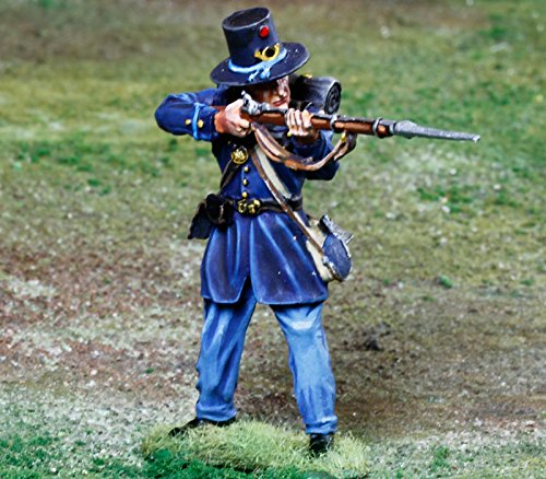 Civil War Toy Soldiers 2nd Wisconsin Iron Brigade Infantry Firing Battle of Gettysburg Figure Collectors Showcase Toy Soldiers Painted Metal Figure 1/32 Britains King Country Gunn First Legion Type CS00847 - Civil War Miniature Soldiers