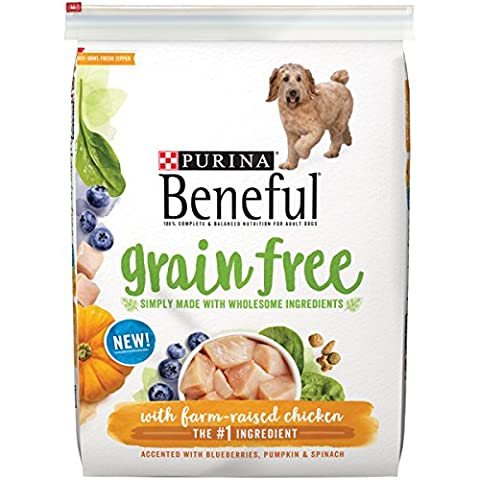 Purina Beneful Grain Free With Real Farm-Raised Chicken Adult Dry Dog Food - (1) 12.5 lb. Bag (On Amazon Premium Dry)