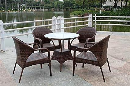 Beau SEEKSUNG Handmade Rattan Balcony Chairs Chairs Chairs Chairs Chairs Chairs Outdoor  Furniture,A Table Four