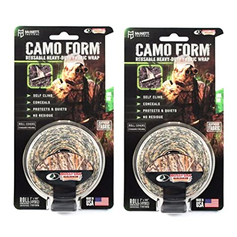 (2-PACK) Camo Form Protective Camouflage Wrap (Various Colors) (Mossy Oak Brush) - Bow Tape