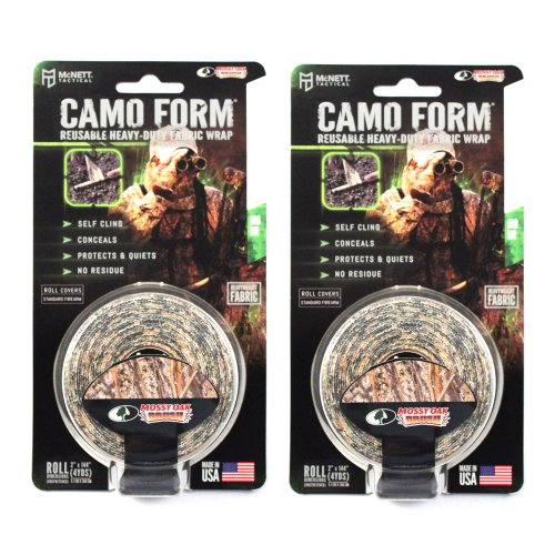 (2-PACK) Camo Form Protective Camouflage Wrap (Various Colors) (Mossy Oak (Brush Camo)