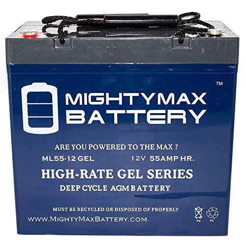 Mighty Max Battery 12V 55AH Gel Battery for A-Bec Scoota Plus 22NF Wheelchair Brand Product (Gel 22nf)