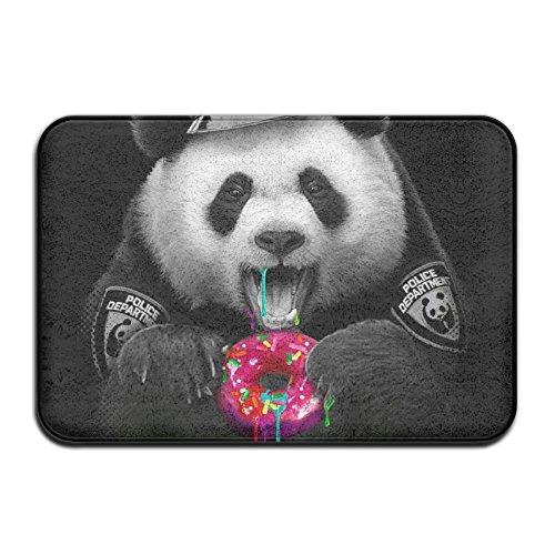 Panda Police Eating Donut Indoor Bathroom Mats 2416 Inch Floor Mat
