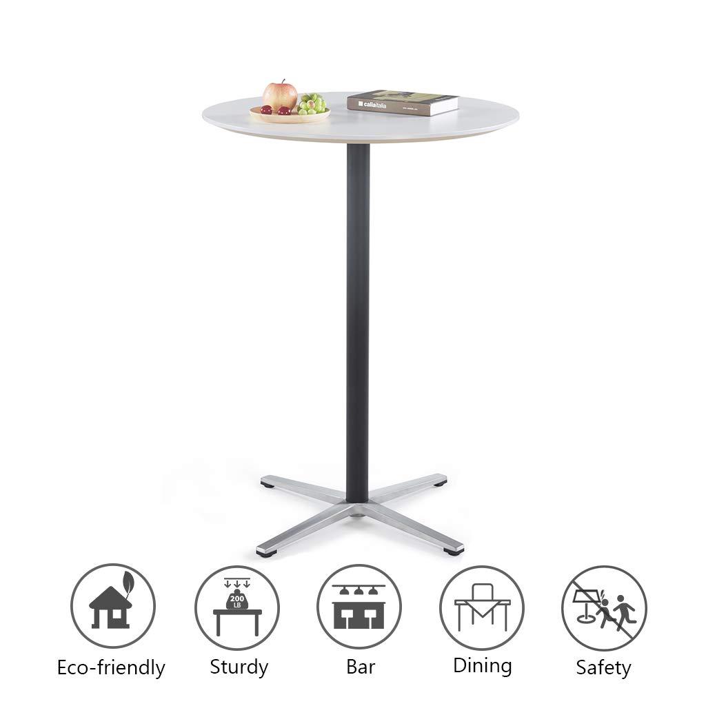 Moon White D80110cm 31.5''43.3'' Sunon Pub Table Round White Table Bistro Table Round Table Dia80x75cm (Moon White)