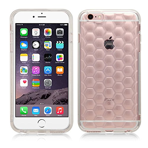 iPhone 6 Plus Case, iPhone 6S Plus Case, JoJoGoldStar® [Slim Fit] [TPU] [PC] Ultra Thin Lightweight Protection Transparent Honeycomb Candy Skin Cover + Free Screen Protector and Stylus (Clear)