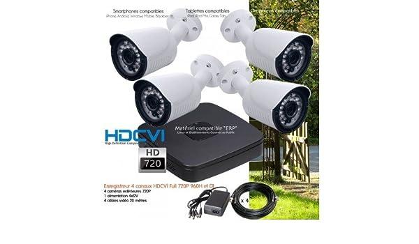 Dahua - Sistema de Video Vigilancia 4 Cámaras HD 720P Exteriores - kit-dvr339 - 4 x 572 - sin Disco Duro: Amazon.es: Bricolaje y herramientas