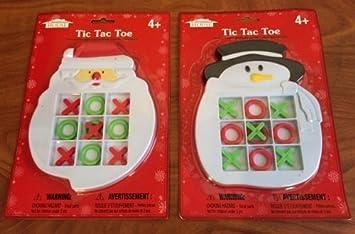 tic tac toe game santa snowman 2 pc pack by christmas house - Santa Snowman 2