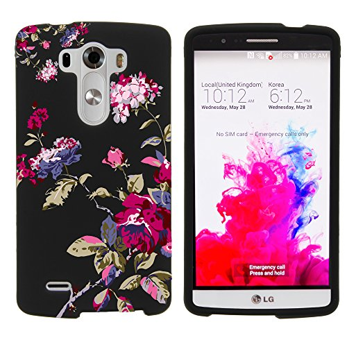 Miniturtle  Slim Fit Graphic Design Image 2 Piece Snap On Protector Hard Phone Case Cover  Stylus Pen  And Clear Screen Protector Film For Android Smartphone Lg G3  At T D850   Verizon Vs985   T Mobile D851   Sprint 990  Delicate Flowers