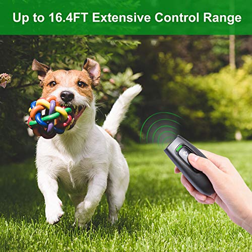 Anti Barking Control Device, 16.4 Ft Handheld Ultrasonic Dog Bark Deterrent, Safe Stop Barking Trainer for Dogs Indoors and Outdoors