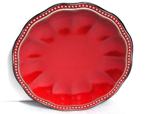 Roscher & Co Hobnail Red Collection Salad Plate