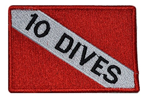 Diver Down Scuba Flag 2x3 Morale Patch - 10 Dives