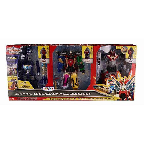 Power Rangers Super Megaforce Action Figure 3-Pack Ultimate Legendary Megazord [Dino Thunder, Super Megaforce & RPM] (Power Rangers Super Megaforce Legendary Megazord Figure)