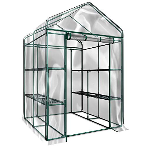 Home-Complete Walk-in Greenhouse- Indoor Outdoor with 8 Sturdy Shelves-Grow Plants, Seedlings, Herbs, or Flowers in Any Season-Gardening Rack (3 Units)