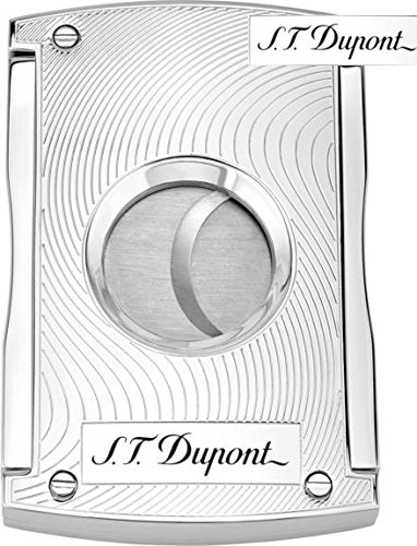 S.T. Dupont Double Blade Cigar Cutter Chrome Waves / 50 Ring Gauge / 003410 by S.T. Dupont