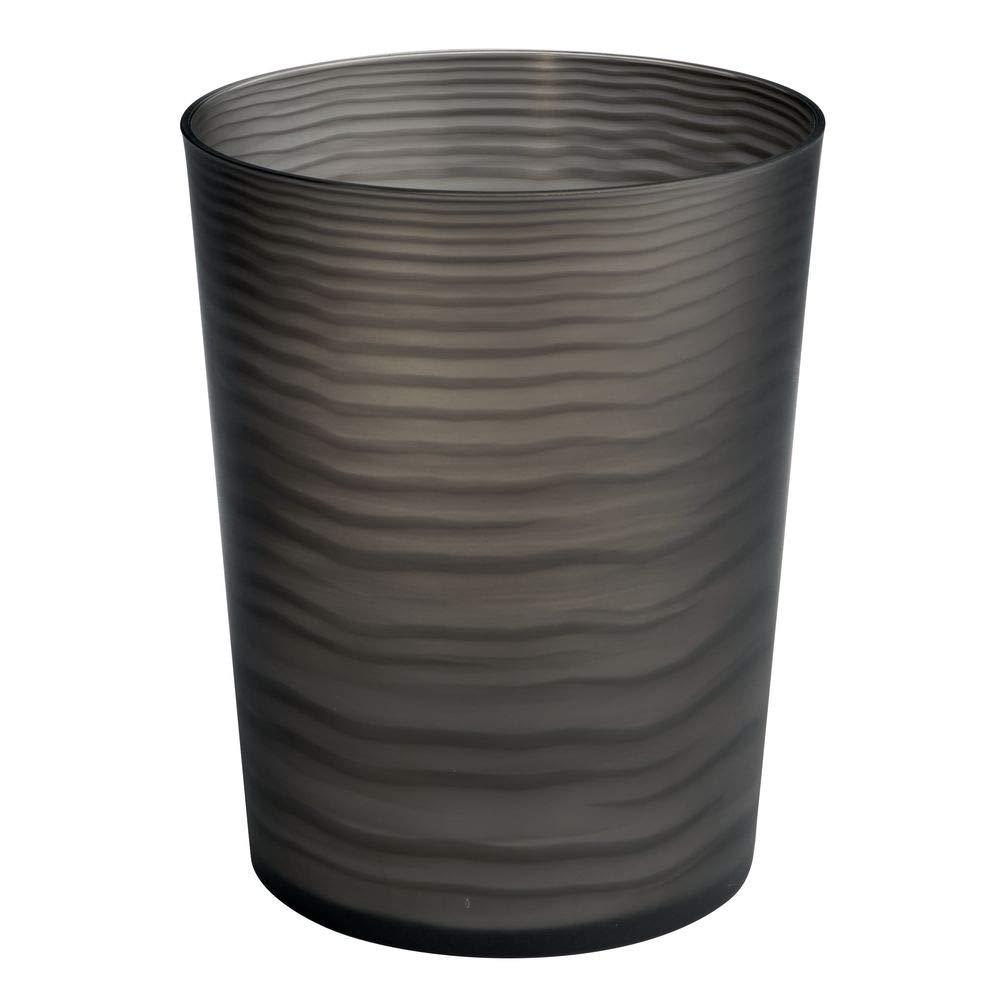 negro el perfecto accesorio para el ba/ño o para su oficina con un dise/ño moderno Color mDesign Papelera de pl/ástico