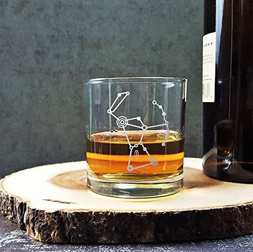 Orion Stars Constellation   Etched Whiskey Glass