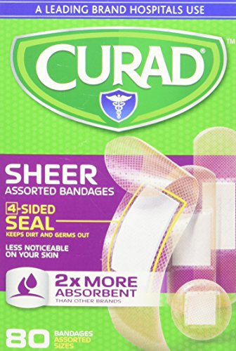 Curad Plastic Bandages, Assorted Sizes, 80 ct